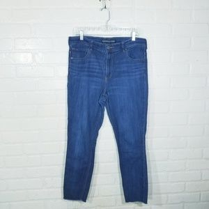 Express Jeans sz 14 cropped legging high rise